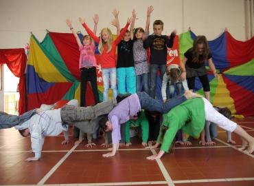 Circusklassen op verplaatsing